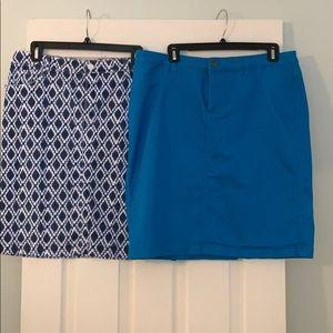 2 cotton skirts